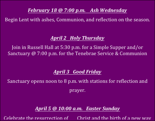 Lent Corrected